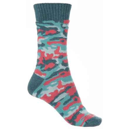 Carhartt Camouflage Socks - Crew (For Women) in Blue - Closeouts