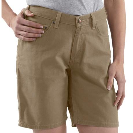 Carhartt Canvas Carpenter Shorts (For Women) in Golden Khaki
