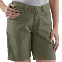 Carhartt Canvas Carpenter Shorts (For Women) in Loden - 2nds