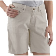 Carhartt Canvas Carpenter Shorts (For Women) in Putty - 2nds