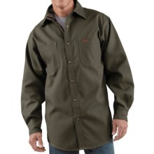 Carhartt Canvas Shirt Jacket - Flannel Lined (For Men) in Moss - 2nds