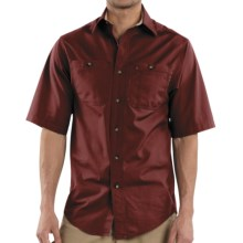 Carhartt Canvas Tradesman Work Shirt - Short Sleeve (For Men) in Dark Red - 2nds