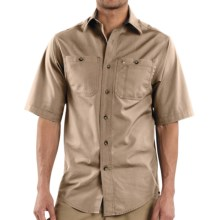 Carhartt Canvas Tradesman Work Shirt - Short Sleeve (For Men) in Stone - 2nds