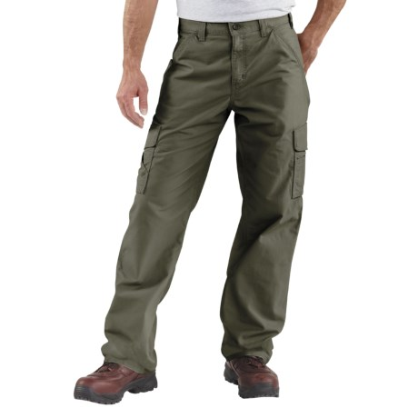 Carhartt Canvas Utility Work Pants - Cotton (For Men) in Dark Olive