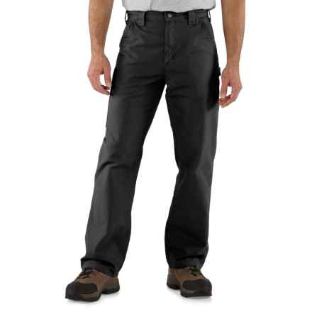 Carhartt Canvas Work Dungaree Jeans - Loose Original Fit, Factory Seconds (For Men) in Black - 2nds