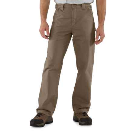 Carhartt Canvas Work Dungarees - Straight Leg, Factory Seconds (For Men) in Light Brown - 2nds