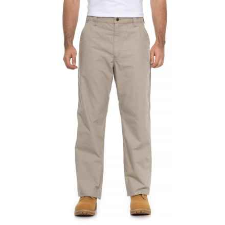 Carhartt Canvas Work Dungarees - Straight Leg, Factory Seconds (For Men) in Tan - 2nds