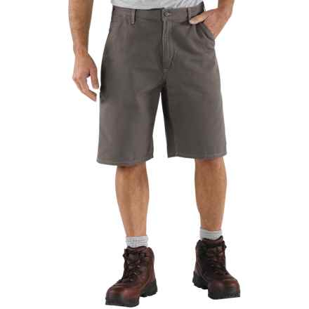 Carhartt Canvas Work Shorts - 8.5 oz. Canvas, Factory Seconds (For Men) in Charcoal - 2nds