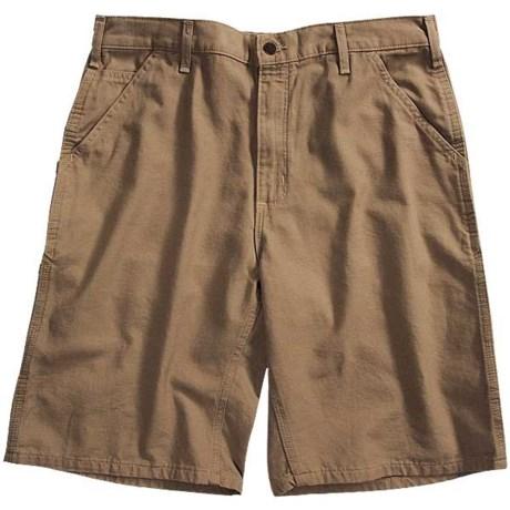 Carhartt Canvas Work Shorts - 8.5 oz. Canvas, Factory Seconds (For Men) in Golden Khaki