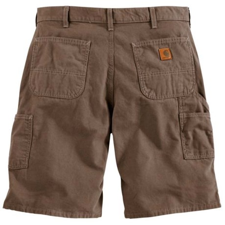 Carhartt Canvas Work Shorts - 8.5 oz. Canvas (For Men) in Mushroom