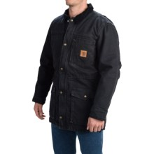 Carhartt Canyon Sandstone Duck Coat (For Men) in Black - 2nds