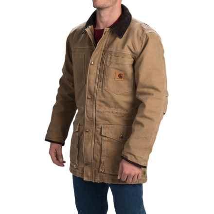 Carhartt Canyon Sandstone Duck Coat (For Men) in Frontier Brown - 2nds