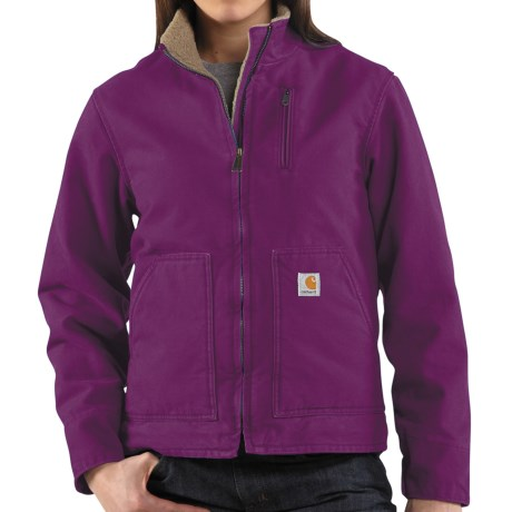 Carhartt Canyon Sandstone Jacket - Sherpa Lined (For Women) in Bright Purple