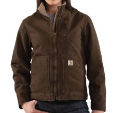 Carhartt Canyon Sandstone Jacket - Sherpa Lined (For Women) in Dark Brown - 2nds