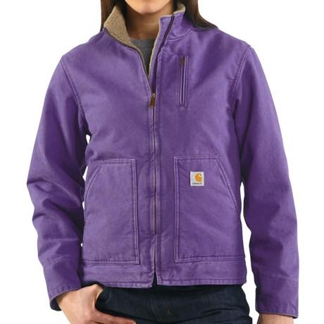 Carhartt Canyon Sandstone Jacket - Sherpa Lined (For Women) in Grape
