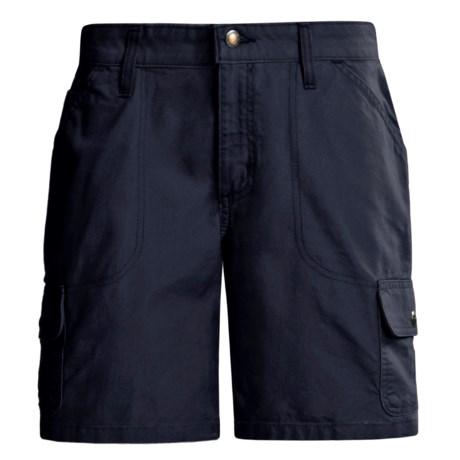 Carhartt Cargo Shorts - Canvas (For Women) in Blue Black