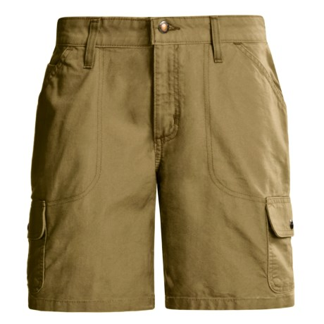 Carhartt Cargo Shorts - Canvas (For Women) in Dark Khaki