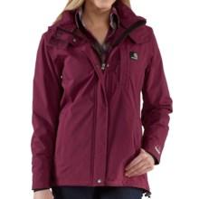 Carhartt Cascade Jacket - Waterproof (For Women) in Merlot - 2nds