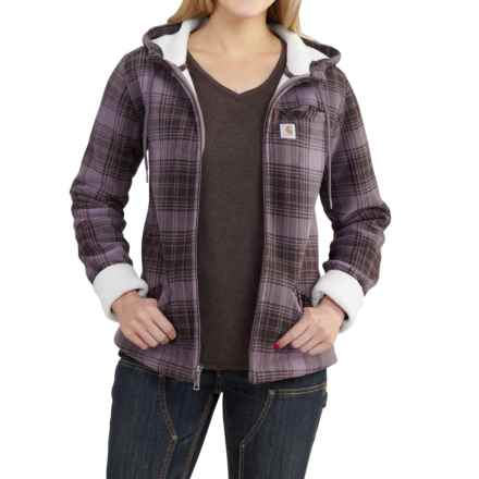 Carhartt Cedar Fleece Hooded Jacket (For Women) in Vintage Violet - 2nds