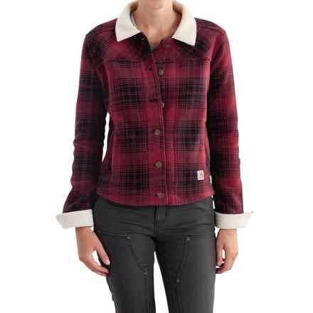Carhartt Cedar Fleece Jacket - Factory Seconds (For Women) in Dark Red - 2nds