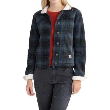 Carhartt Cedar Fleece Jacket - Factory Seconds (For Women) in Deep Blue