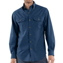Carhartt Chambray Work Shirt - Long Sleeve (For Men) in Indigo Chambray - 2nds