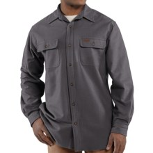 Carhartt Chamois Shirt - Long Sleeve (For Big and Tall Men) in Charcoal - 2nds