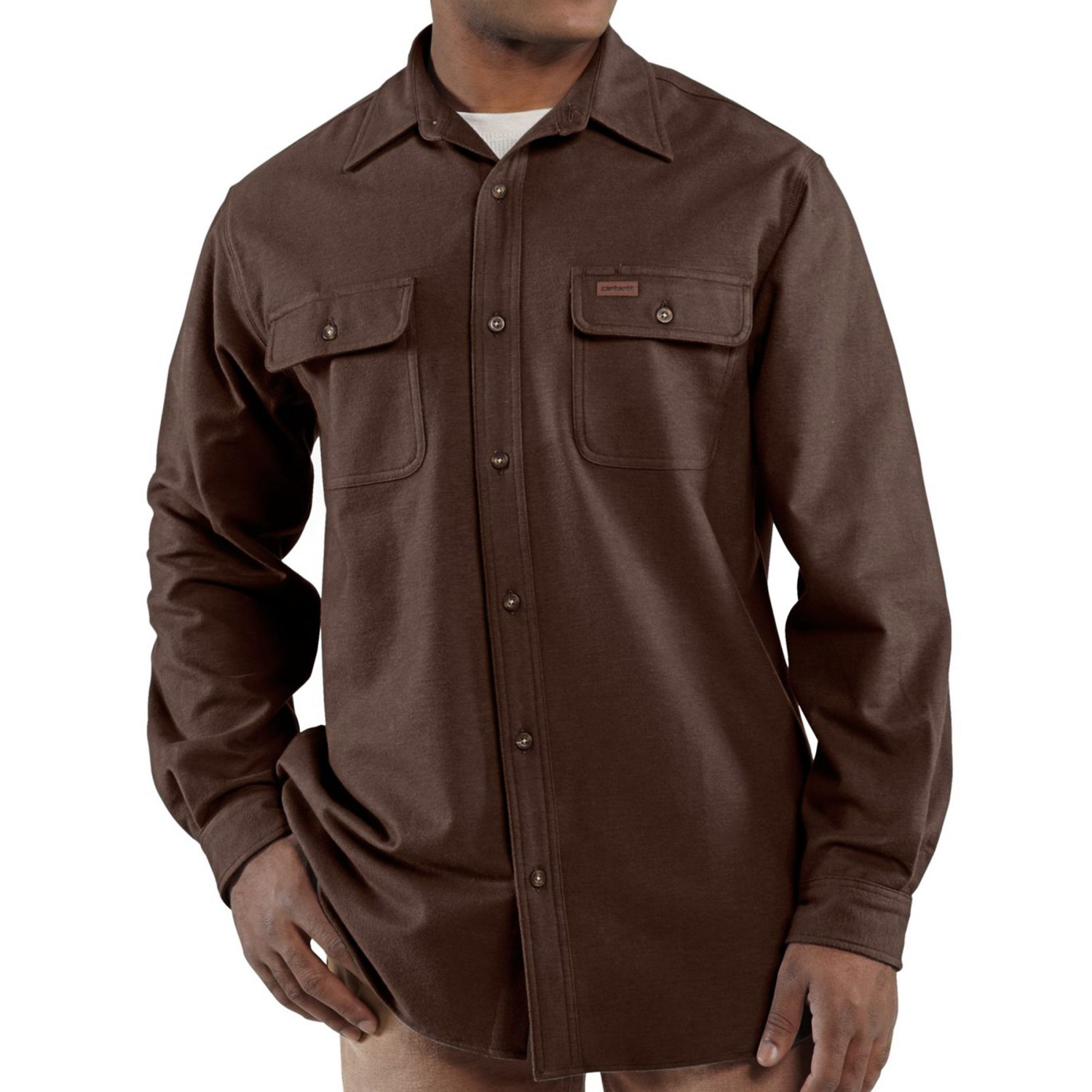 Carhartt Chamois Shirt Long Sleeve For Big And Tall Men