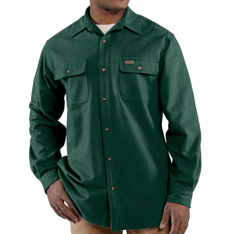 Carhartt Chamois Shirt - Long Sleeve (For Big and Tall Men ...