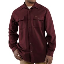Carhartt Chamois Shirt - Long Sleeve (For Big and Tall Men) in Port - 2nds