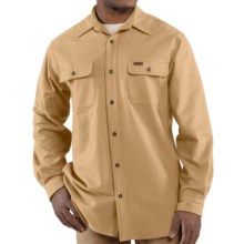 Carhartt Chamois Shirt - Long Sleeve (For Big and Tall Men) in Worn Brown - 2nds
