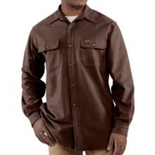 Carhartt Chamois Shirt - Long Sleeve (For Men) in Dark Brown - 2nds