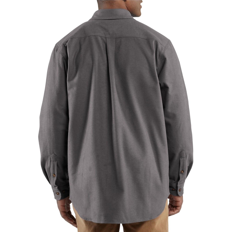 Carhartt chamois shirt for men 7248r for Carhartt men s chamois long sleeve shirt