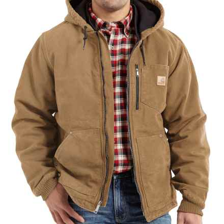 Carhartt Chapman Sandstone Duck Jacket - Insulated, Factory Seconds (For Big and Tall Men) in Frontier Brown - 2nds
