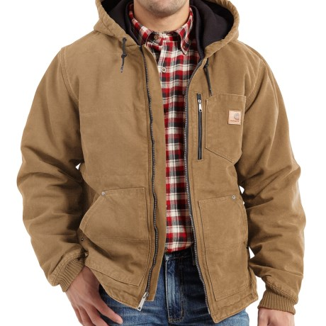 Carhartt Chapman Sandstone Duck Jacket - Insulated, Factory Seconds (For Big and Tall Men) in Frontier Brown