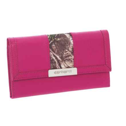 Carhartt Checkbook Clutch - Leather (For Women) in Pink/Camo - Closeouts