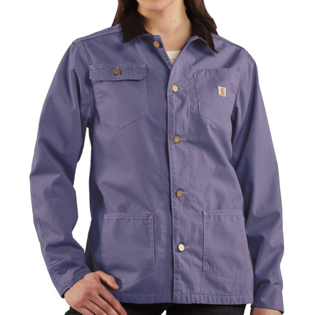 Carhartt Chore Coat - Flannel Lined (For Women) in Blue Dusk