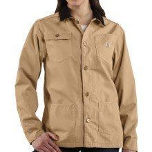Carhartt Chore Coat - Flannel Lined (For Women) in Cork - 2nds