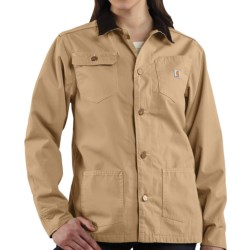Carhartt Chore Coat - Flannel Lined (For Women) in Cork