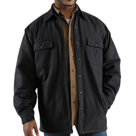 Carhartt Chore Flannel Shirt Jacket - Quilt-Lined (For Men) in Moss