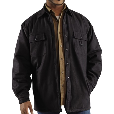 Carhartt Chore Flannel Shirt Jacket - Quilt-Lined (For Tall Men) in Black