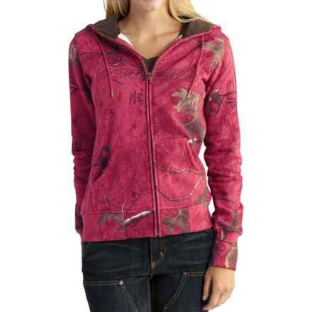 Carhartt Clarksburg Camo Sweatshirt - Zip Up, Factory Seconds (For Women) in Wild Rose Realtree Xtra - 2nds