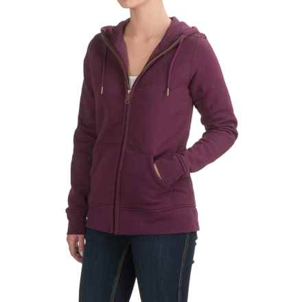 Carhartt Clarksburg Hoodie - Full Zip, Factory Seconds (For Women) in Potent Purple Heather - 2nds