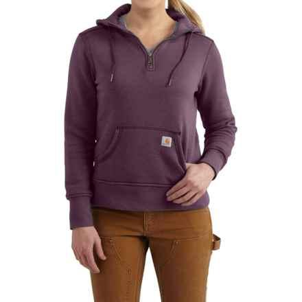 Carhartt Clarksburg Hoodie - Zip Neck, Factory Seconds (For Women) in Potent Purple Heather - 2nds