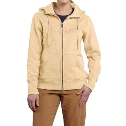 Carhartt Clarksburg Sweatshirt - Zip Front (For Women) in Lemongrass Heather - 2nds
