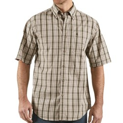 Carhartt Classic Plaid Shirt - Short Sleeve (For Men) in Cactus