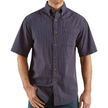 Carhartt Classic Plaid Shirt - Short Sleeve (For Men) in Navy - Closeouts