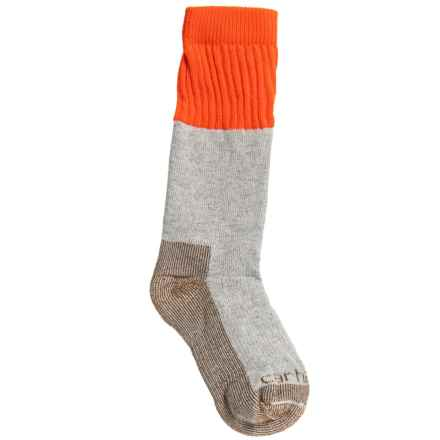 Carhartt Cold-Weather Boot Socks - Crew (For Boys) in Orange - Closeouts