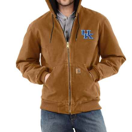 Carhartt Collegiate Sandstone Active Jacket - Quilt Lined, Factory Seconds (For Big and Tall Men) in Carhartt Brown Kentucky - 2nds