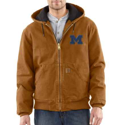 Carhartt Collegiate Sandstone Active Jacket - Quilt Lined, Factory Seconds (For Big and Tall Men) in Carhartt Brown Michigan - 2nds